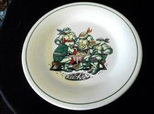 "COLLECTABLE HORNSEA PLATE TURTLES BOLD DESIGN GREAT USED CONDITION 8.5"" DIA 1990"